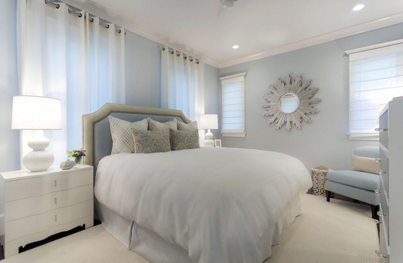 Floridian Villa. 20 Beautiful Bedrooms with Sunburst Mirrors   Home Design Lover