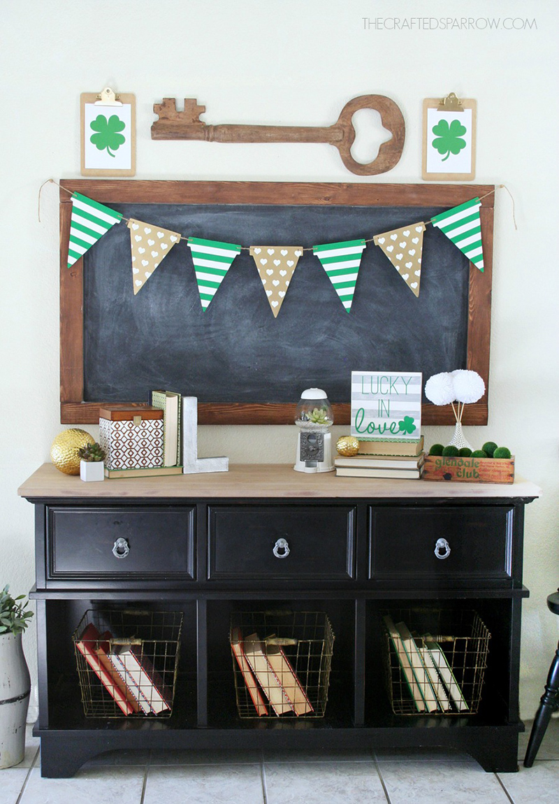 St. Patrick's Day Wood Banner