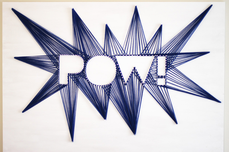 Comic Book Party: DIY String Art