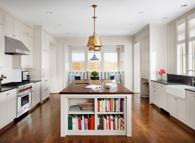 20 Charming Ways of Adding Bookshelves in the Kitchen