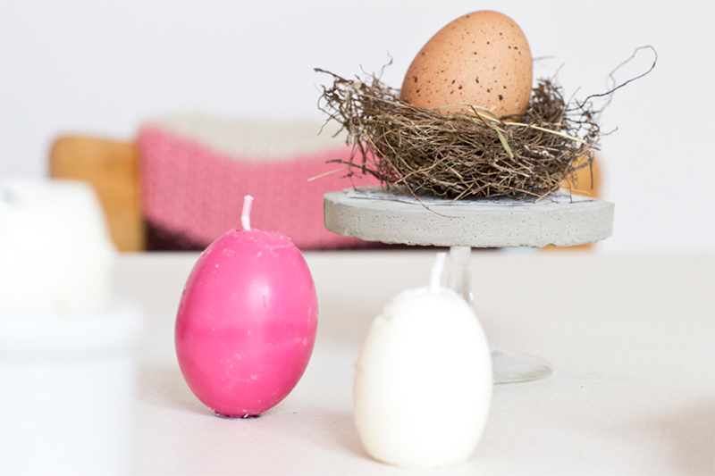 DIY Egg-Shaped Easter Soy Wax Candles