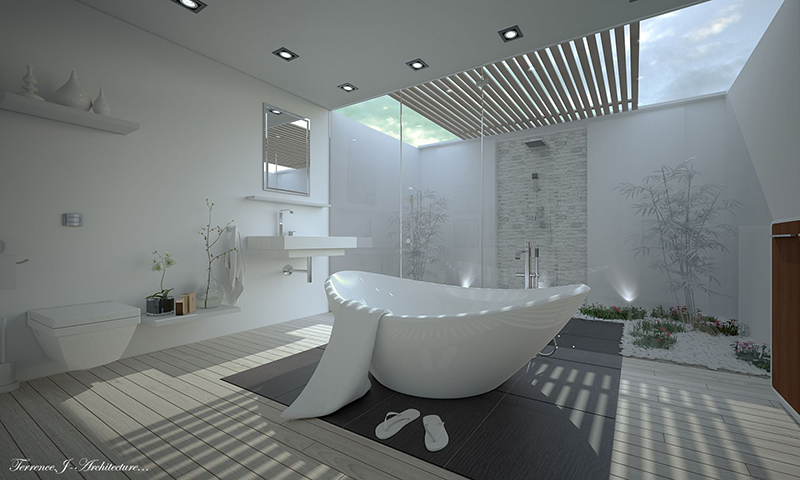 Groovy Add Skylights To Bring Natural Light In 22 Different Bathroom Largest Home Design Picture Inspirations Pitcheantrous