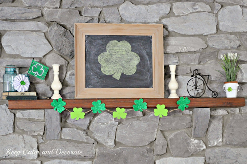 St. Patrick's Day Mantel