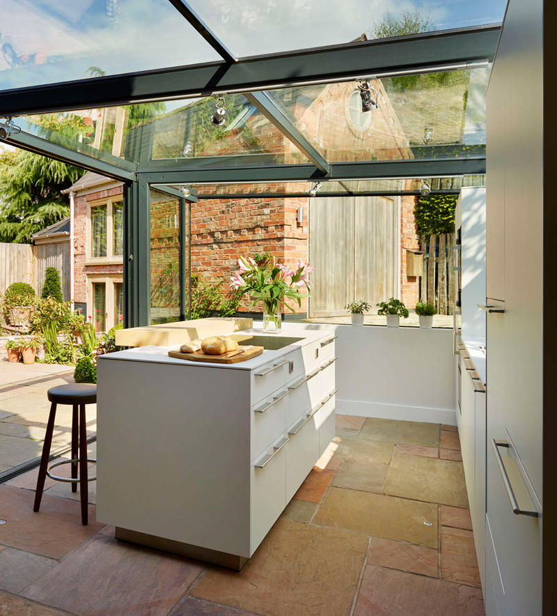 glass box kitchen door