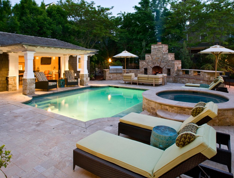 20 Pool Seating Area With Cushions | Home Design Lover