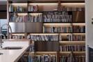 bookshelves kitchen