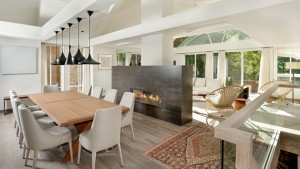 double fireplace dining -areas