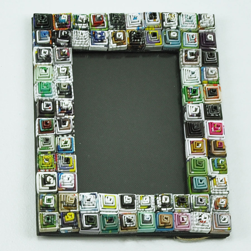 Spiral Recycled Magazine Photo Frame