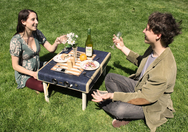 Suitcase Picnic Table and Speaker System