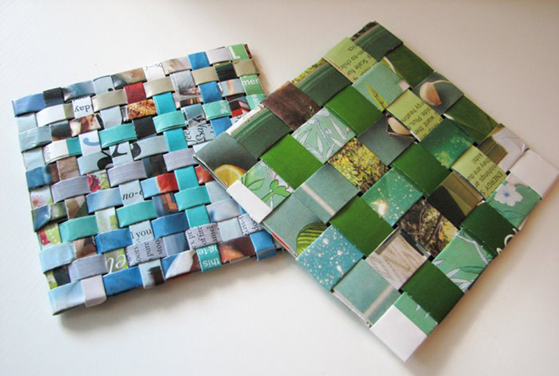 Recycled Magazine Coasters