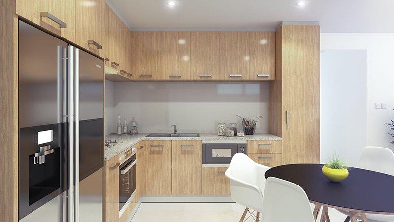 Honey Elm gloss Kitchen
