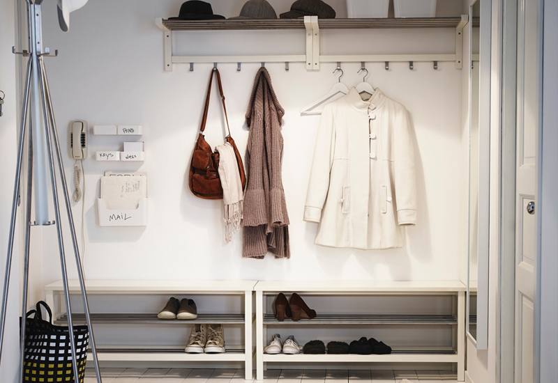 Provide storage for hats, boots and others.