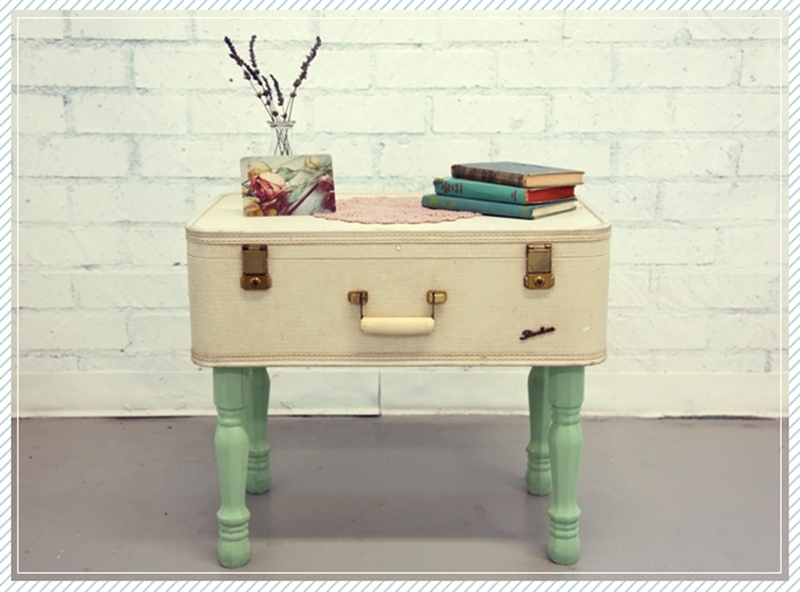 Coffee Table Suitcase DIY