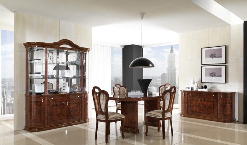 Classic Italian Dining Table MCS-Pamela Walnut