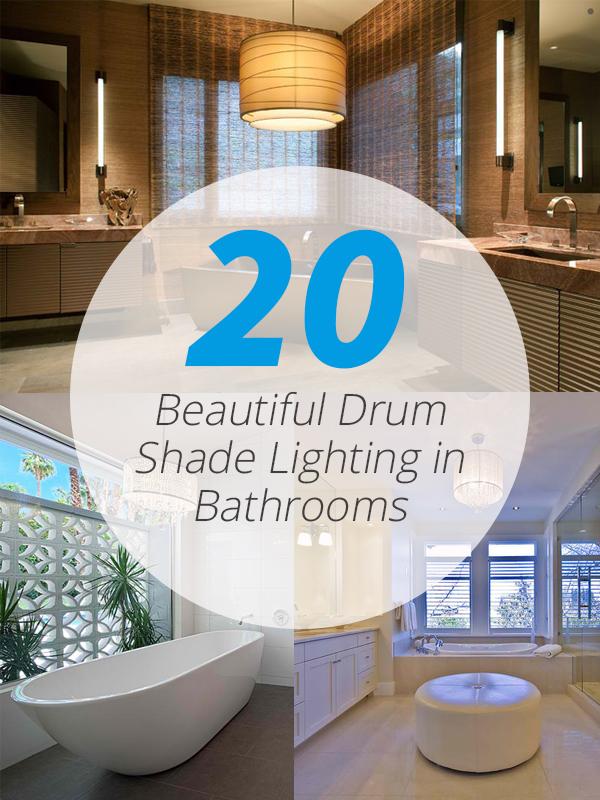 drum shade bathrooms