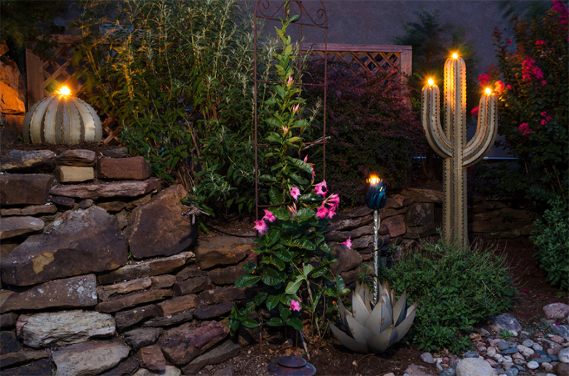 Decorative Desert Art & Tiki Torches