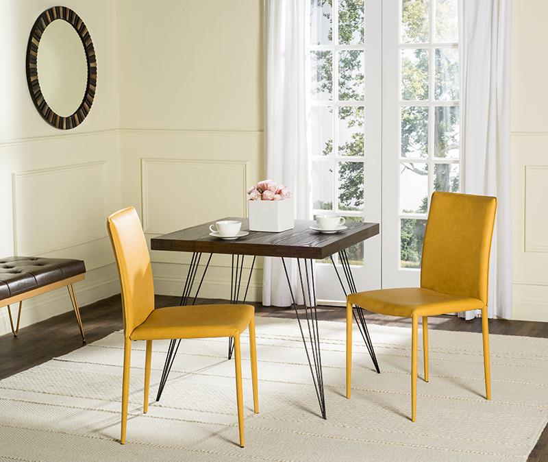 Safavieh Karna Antique Yellow Dining Chair