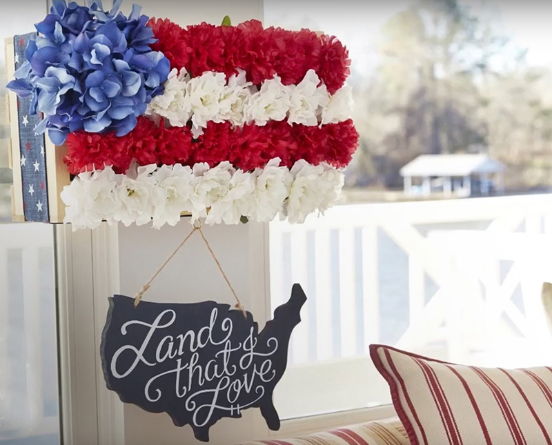 Customize Your Own Patriotic Floral Wall Hanging
