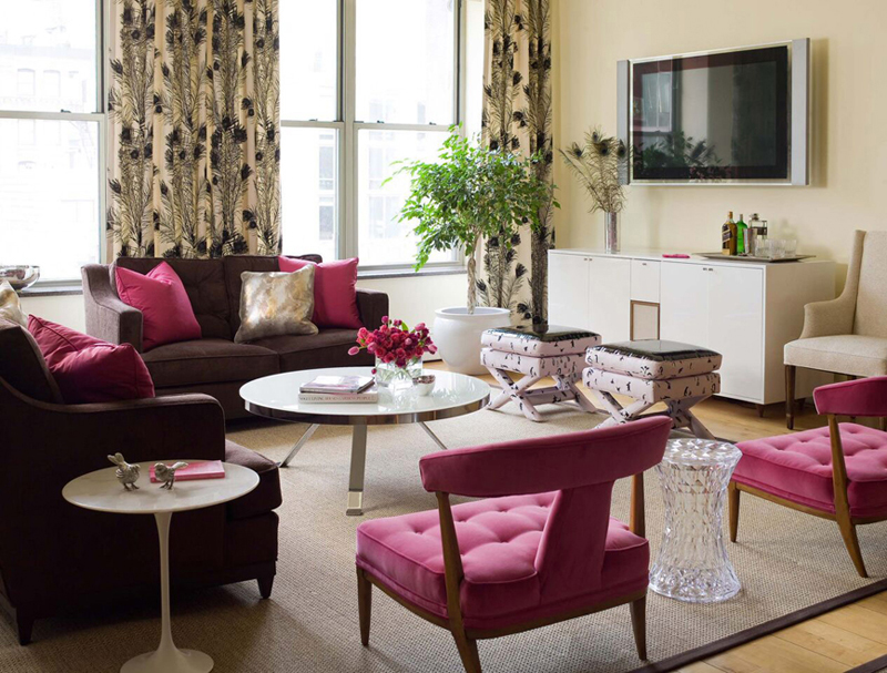 20 pink accent chairs in the living room home design lover. Black Bedroom Furniture Sets. Home Design Ideas
