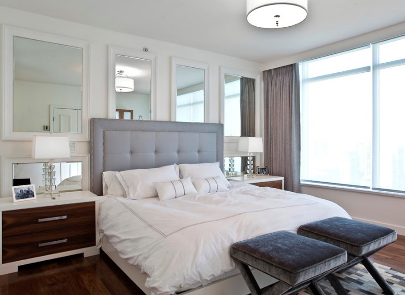 Olive Es. 20 Beautiful Bedrooms with Mirrors Above Night Stands   Home