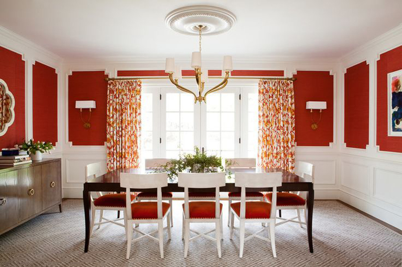 20 Fab Red Accent Walls in Dining Rooms