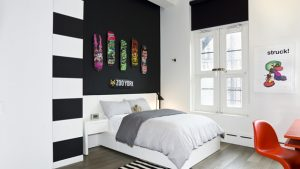 black accent wall bedroom