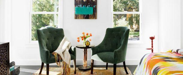 green chair bedroom