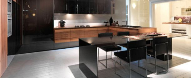 kitchen wood black