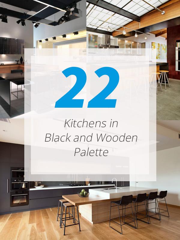 kitchens wood black