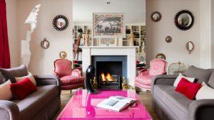 pink chair livingroom
