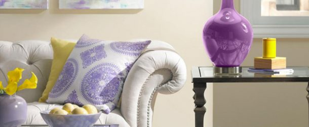 purple lamps living