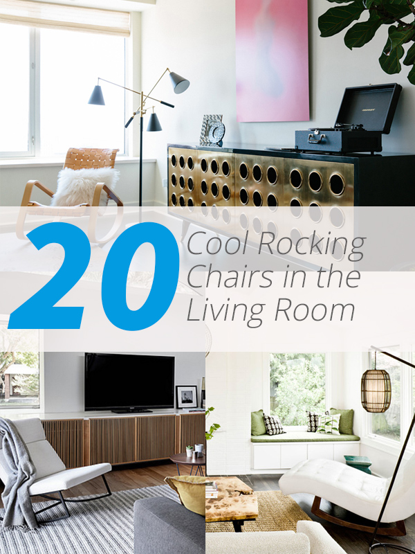 rocking chairs - 20 Cool Rocking Chairs In The Living Room Home Design Lover