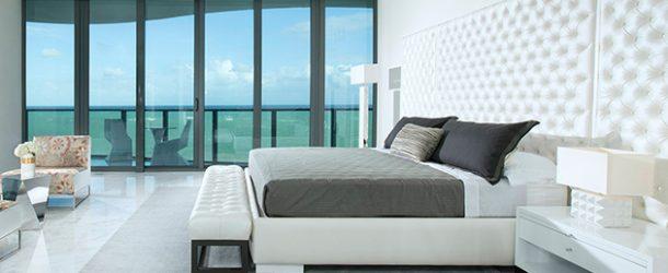 white condo bedroom