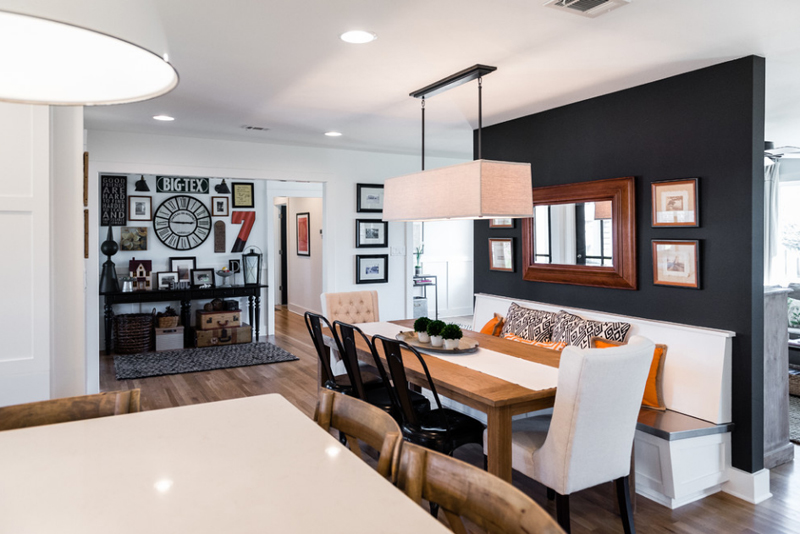 20 Beautiful Dining Rooms With Black Accent Walls Home Design Lover