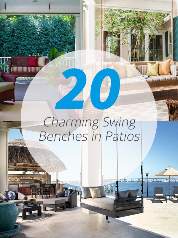 swing benches patio