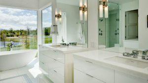 white double vanity