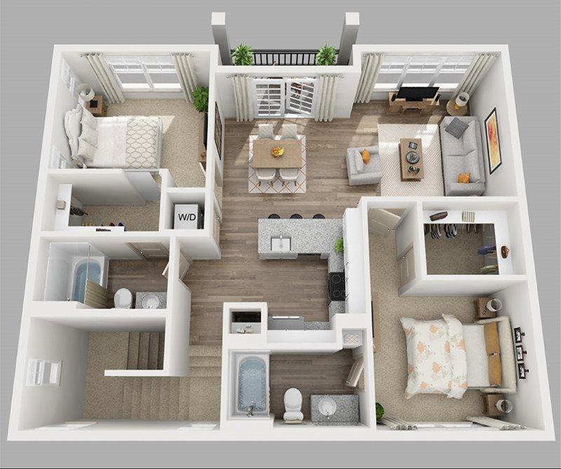 CH 3 Bedroom 2nd Floor Plan