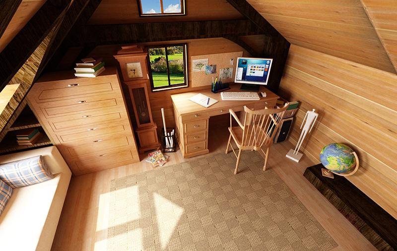 Attic Interior, idea from a picture!