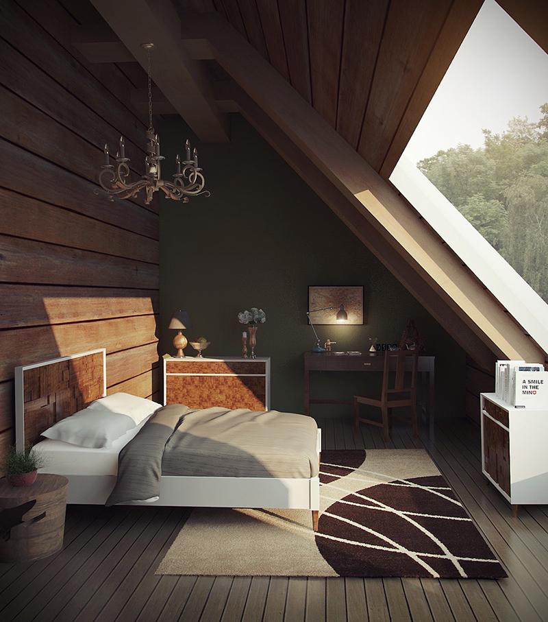 Green Bedroom Attic
