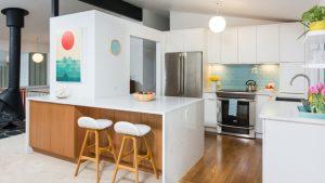 white countertop kitchen