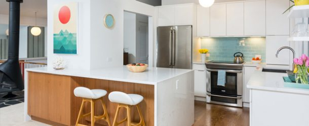 white countertop kitchen