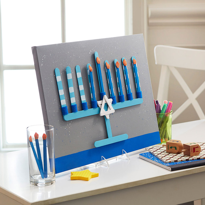 Craft Stick Menorah