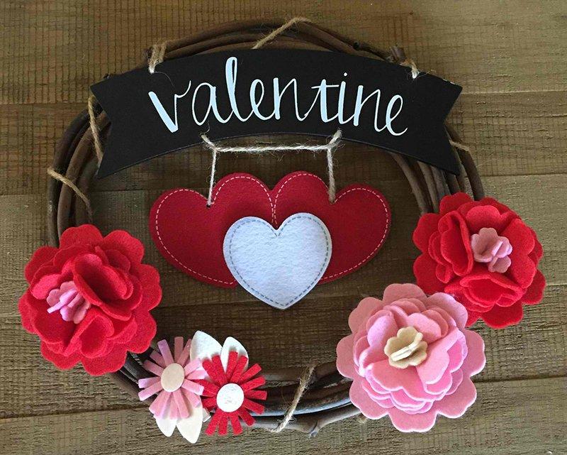 Love Blooms Valentine Wreath