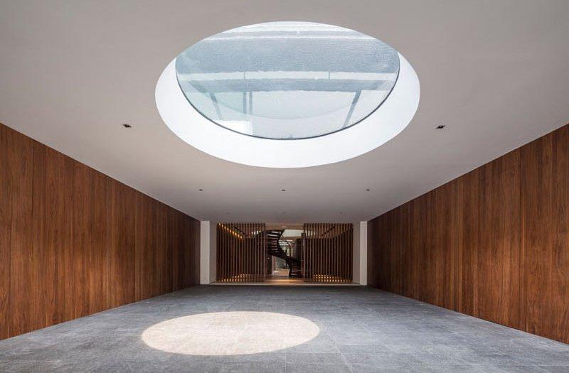 Secret Garden House skylight water