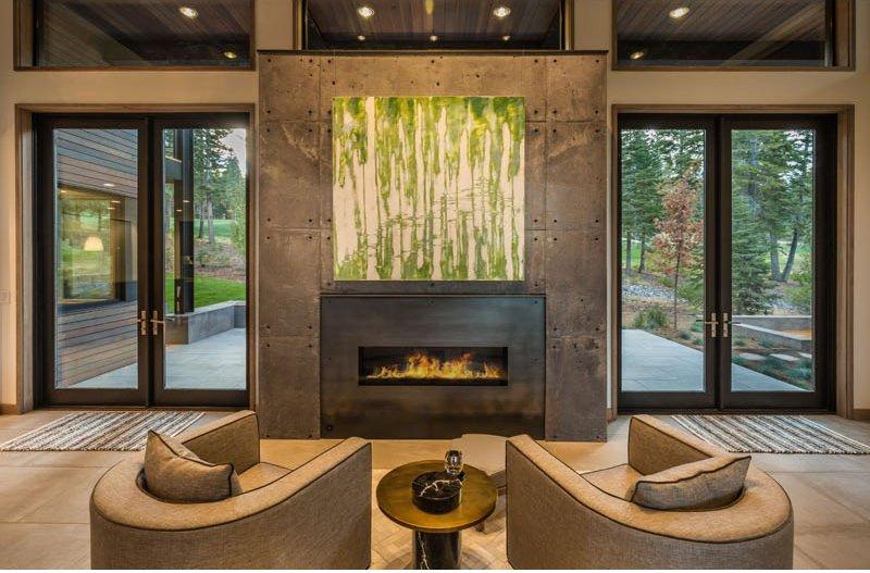 Sage Modern fireplace