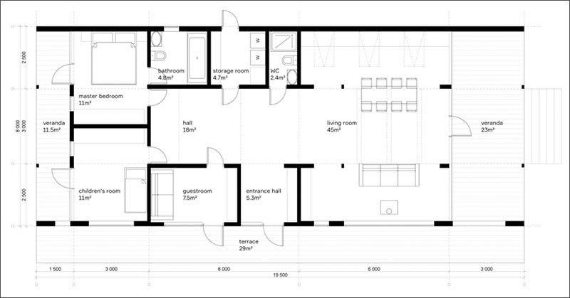 DublDom 2.110 floor plan