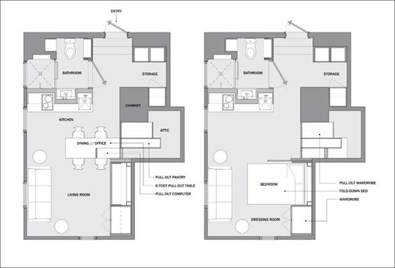 Micro Apartment floor plan
