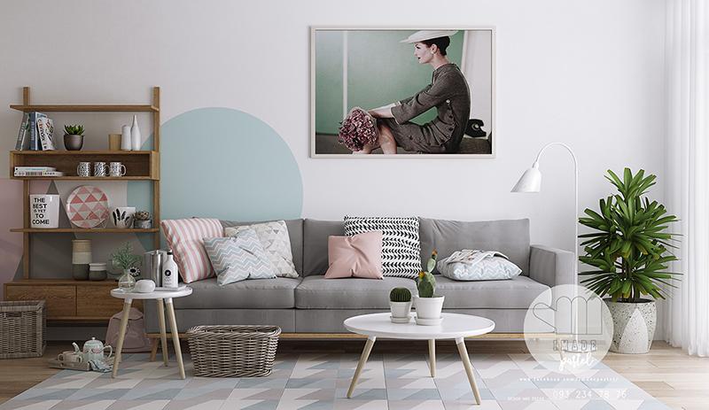 60sqm Scandinavian interior